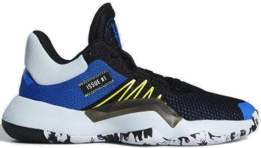 Adidas D.O.N. Issue #1 - Core Black Glow Blue Shock Yellow (EF9908)