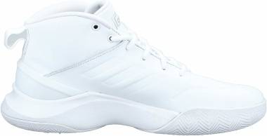 Adidas Own The Game - Blanc Blanc Argent Mat