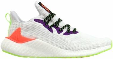 Adidas Alphaboost - Cloud White / Signal Coral / Signal Green (FW4543)