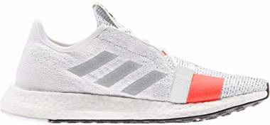 Adidas Senseboost Go - Core White/Grey Two/Solar Red (G27403)