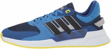 Adidas Run 90s - Dark Blue Black Shock Yellow