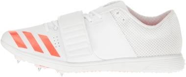 Adidas Adizero TJ/PV - White/Infrared/Metallic Silver (BB4956)