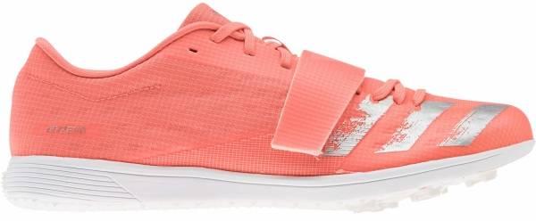 Adidas Adizero TJ/PV - Corail Vif Argent Blanc