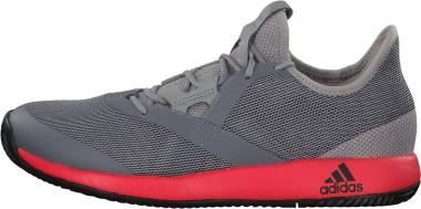 Adidas Adizero Defiant Bounce - Light Granite/Shock Red/Black