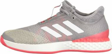 Adidas Adizero Ubersonic 3.0 - Light Granite White Shock Red