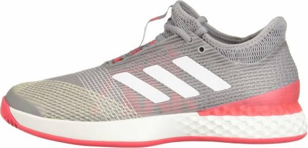 Adidas Adizero Ubersonic 3.0 - Light Granite/White/Shock Red