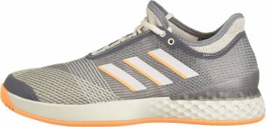 Adidas Adizero Ubersonic 3.0 - Grey/Grey/Flash Orange