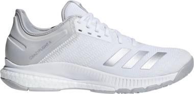 Adidas CrazyFlight X 2.0 - White/Silver Metallic/Grey Two