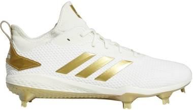 Adidas Adizero  Afterburner 5   - Bianco/Oro.