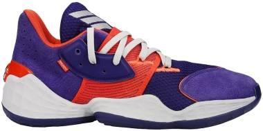 Adidas Harden Vol. 4 - Collegiate Purple / Orange / Grey Three (FW7495)