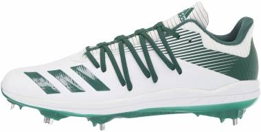 Adizero Afterburner 6 - Ftwr White/Dark Green/Silver Met. (G27668)