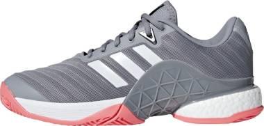 Adidas Barricade 2018 Boost - White/Matte Silver/Scarlet