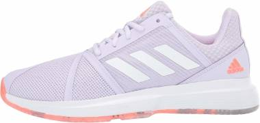 Adidas CourtJam Bounce - Signal Coral Purple Tint Tech Purple