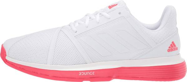 Adidas CourtJam Bounce - White/White/Shock Red