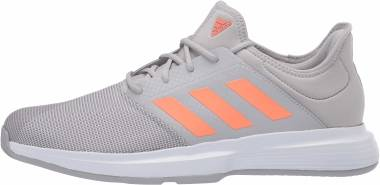 Adidas GameCourt - Gray Two F17 Signal Coral Gray Three F17 (EG2015)