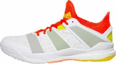 Adidas Stabil X - White/Solar Red/Shock Yellow