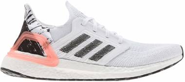 Adidas Ultraboost 20 - White/ Black/ Coral