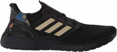 Adidas Ultraboost 20 - Core Black Gold Met Signal Coral (FW4322)