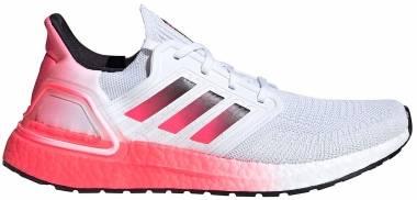 Adidas Ultraboost 20 - Ftwr White / Core Black / Signal Pink (EG5177)