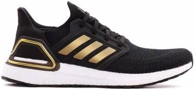 Adidas Ultraboost 20 - Core Black Gold Met Solar Red (EE4393)
