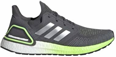 Adidas Ultraboost 20 - Grey Five / Silver Metalic / Signal Green (FV8317)