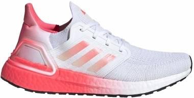 Adidas Ultraboost 20 - Ftwr White / Signal Pink / Signal Pink (EG5201)