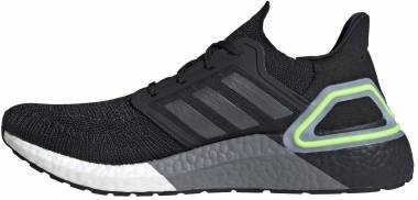 Adidas Ultraboost 20 - Black Night Metallic Signal Green (EG0707)