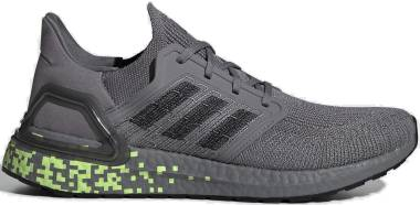 Adidas Ultraboost 20 - Grey/ Black/ Green (EG0705)