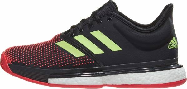 Adidas SoleCourt Boost Clay - Core Black / Hi-res Yellow / Shock Red (AH2131)