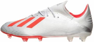 Adidas X 19.2 Firm Ground - Silver (Silver Met./Hi/Res Red S18/Ftwr White Silver Met./Hi/Res Red S18/Ftwr White)