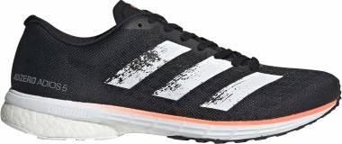 Adidas Adizero Adios 5 - Core Black / Footwear White / Signal Coral (EE4292)
