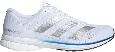 Adidas Adizero Adios 5 - Ftwr White / Silver Metalic / Team Royal Blue (FV7334)