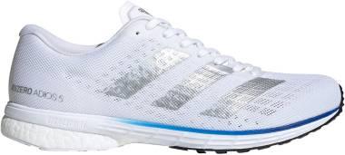 Adidas Adizero Adios 5 - Ftwr White / Silver Metalic / Team Royal Blue (FV7334)