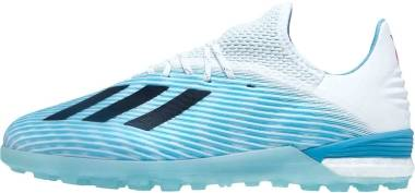 Adidas X 19.1 Turf - Bright Cyan/Core Black/Shock Pink (F99999)