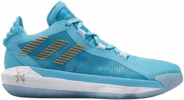 Adidas Dame 6 - Bright Blue/Gold Metallic/Sky (FW3658)
