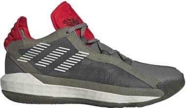 Adidas Dame 6 - vert/gris clair/rouge