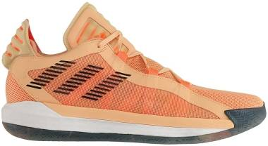 Adidas Dame 6 - Glow Orange/Core Black/Signal Coral (FW3667)
