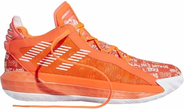 Adidas Dame 6 - Rouge Solaire Blanc Rouge Solaire (FU6808)