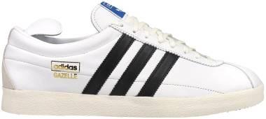 Adidas Gazelle Vintage - Footwear White Core Black Gold Metallic (FU9659)
