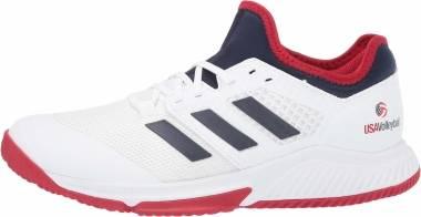 Adidas Court Team Bounce - Ftwr White Collegiate Navy Power Red