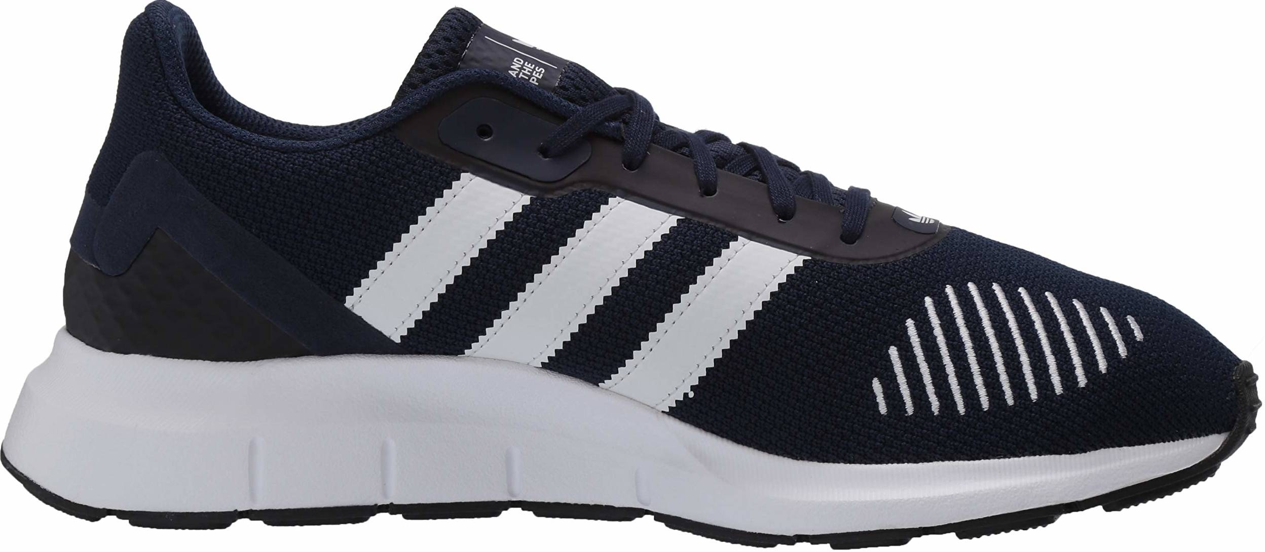 Repegar nombre A rayas  Adidas Swift Run RF sneakers in black + blue (only $31) | RunRepeat