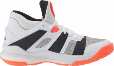 Adidas Stabil X Mid - White/Black/Solar Orange (F33827)