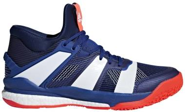 Adidas Stabil X Mid - Mystery Ink-White-Solar Red