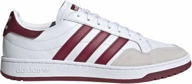 Adidas Team Court - Footwear White / Collegiate Burgundy / Core Black (EF6053)