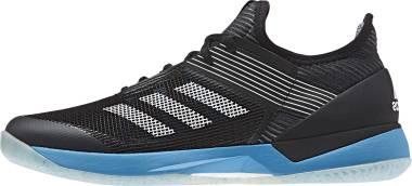 Adidas Adizero Ubersonic 3.0 Clay - Black White Shock Cyan