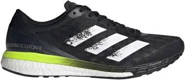 Adidas Adizero Boston 9 - Core Black / Ftwr White / Solar Yellow (FY0343)
