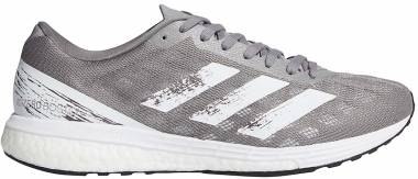 Adidas Adizero Boston 9 - Grey-white-silver Metallic (EG4674)