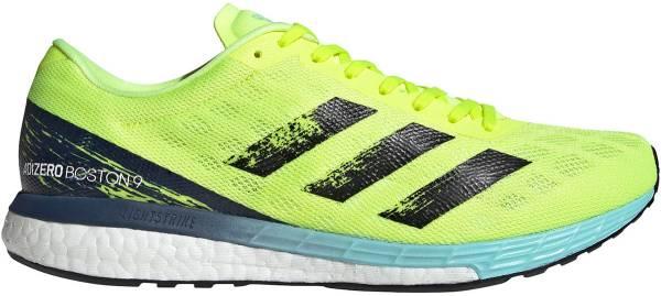 Adidas Adizero Boston 9 - Solar Yellow / Core Black / Clear Aqua (H68740)