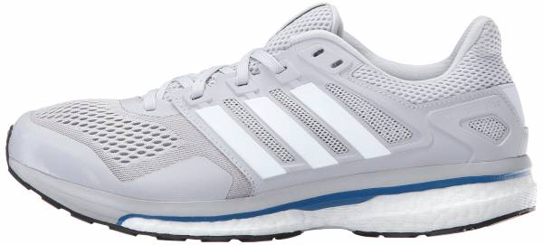 Adidas Supernova Glide Boost 8 men light solid grey/white/unity blue fabric