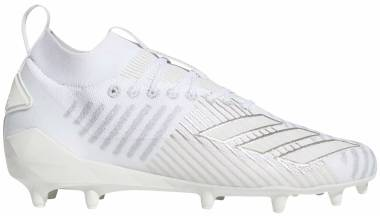 Adidas Adizero 8.0 Primeknit Cleats - Cloud White / Cloud White / Silver Metallic (F97227)